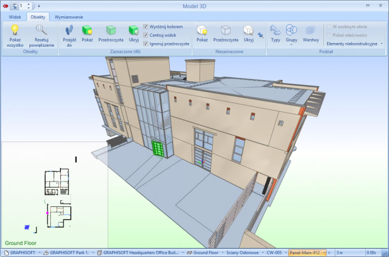Model 3D w programie BIMestiMATE