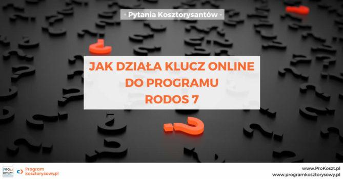 Klucz online do programu Rodos 7 - jak działa?
