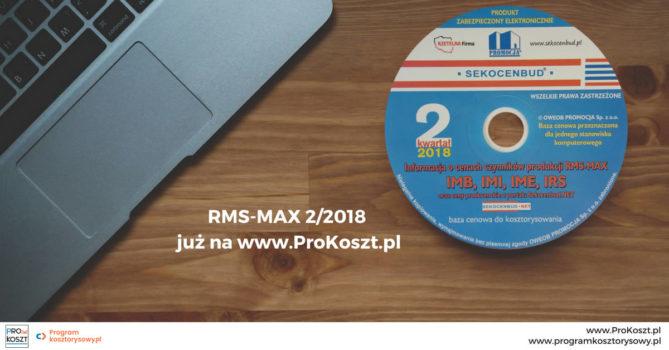 Sekocenbud rms max 2 2018 na płycie CD